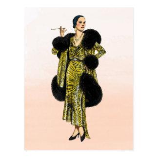 De vintage Illustratie van de Mode van Briefkaart