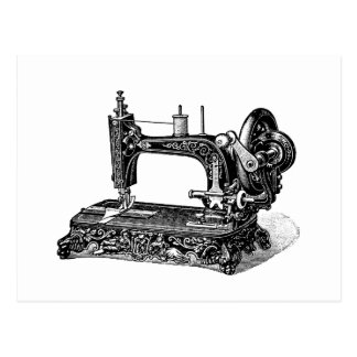 De vintage Illustratie van de Naaimachine 1800s Briefkaart