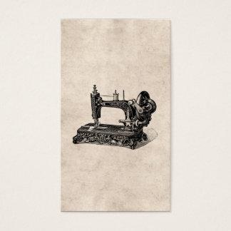 De vintage Illustratie van de Naaimachine 1800s Visitekaartjes