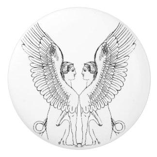 De vintage illustratie van de Sfinx Keramische Knop
