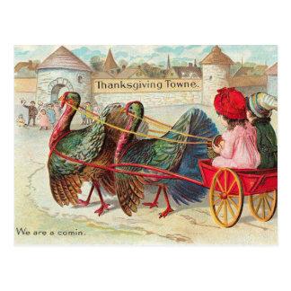 De vintage Illustratie van de Thanksgiving Briefkaart