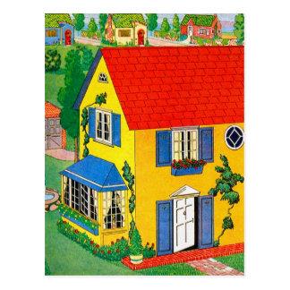 De vintage Illustratie van het Huis van Doll van Briefkaart