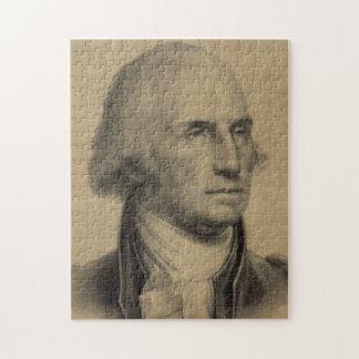 De vintage Illustratie van het Portret van George Legpuzzel