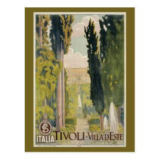De vintage Italiaanse advertentie Tivoli Lazio Briefkaart