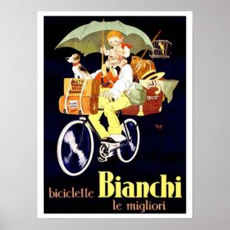 De vintage Italiaanse Bianchi Advertentie van de Poster