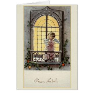 De vintage Italiaanse Kerstkaart van Buon Natale Briefkaarten 0