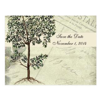 De vintage Italiaanse Mirte bewaart de Datum Briefkaart