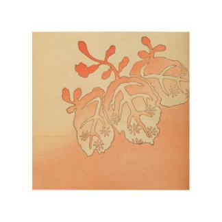 De vintage Japanse Bladeren van de Herfst Hout Afdruk
