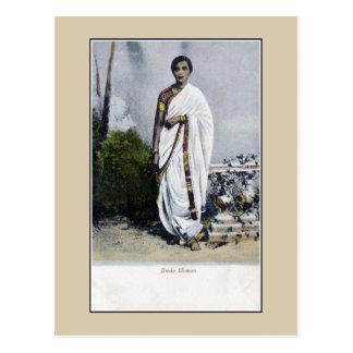 De vintage jaren 1900 India, Hindoese Vrouw Briefkaart