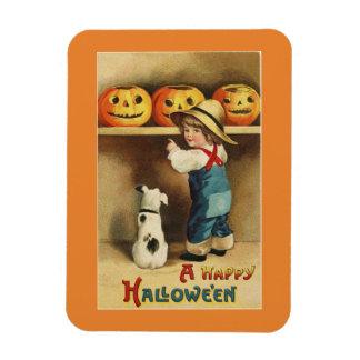 De vintage Jongen van Halloween Magneet