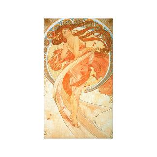 """De Vintage Jugendstil van de """"dans"""" - Alphonse Canvas Print"""