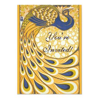 De vintage Jugendstil van het Poster van de Pauw Kaart