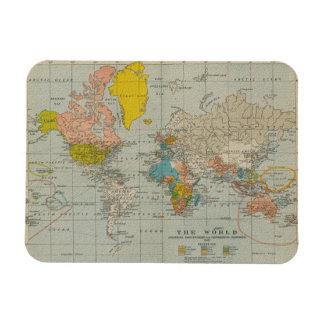 Wereld kaarten magneten zazzle - Vintage bank thuis van de wereld ...