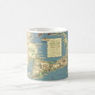 De vintage Kaart van Cape Cod (1940) Koffiemok
