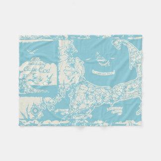 De vintage Kaart van Cape Cod Fleece Deken