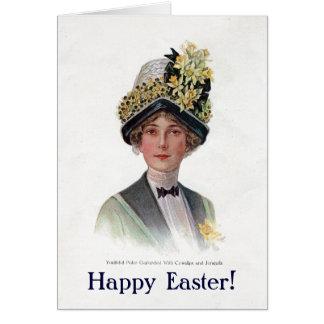 De vintage Kaart van de Bonnet van Pasen
