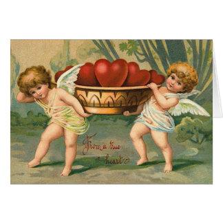 De vintage Kaart van de Cupido van Valentijn