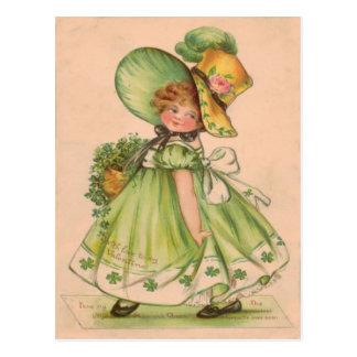 De vintage Kaart van de Dag van Valentijn St Briefkaart