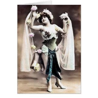 De vintage Kaart van de Danser