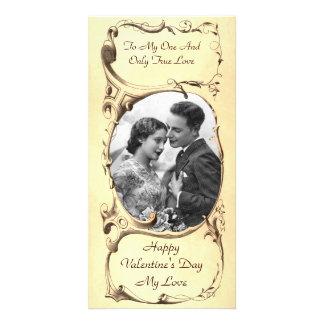 De vintage Kaart van de Foto van Valentijn Fotokaarten