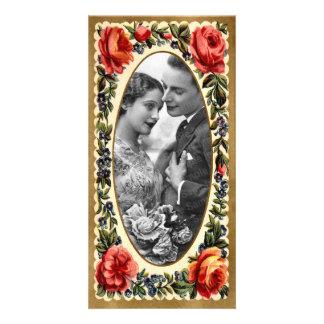 De vintage Kaart van de Foto van Valentijn Persoonlijke Fotokaart