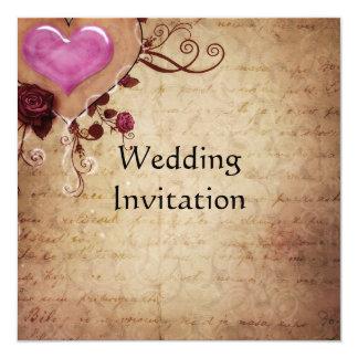 De vintage Kaart van de Uitnodiging van het