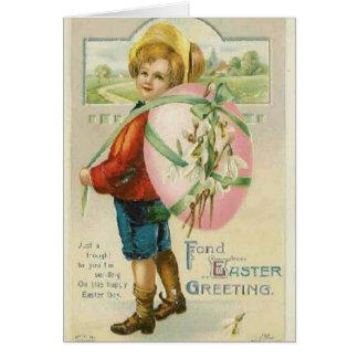 De vintage Kaart van de Vakantie van Pasen
