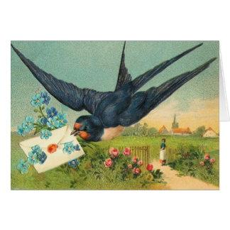 De vintage Kaart van de Valentijnsdag