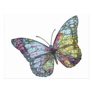 De vintage Kaart van de Vlinder