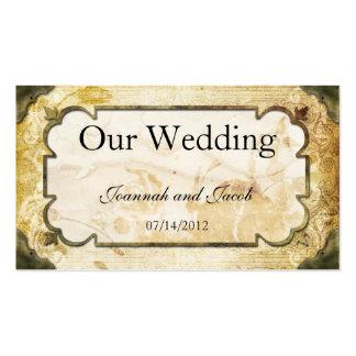 De vintage Kaart van de Website van het Huwelijk v Visitekaartje