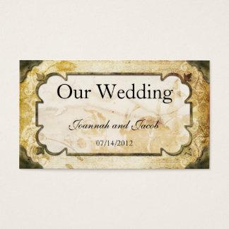 De vintage Kaart van de Website van het Huwelijk Visitekaartjes