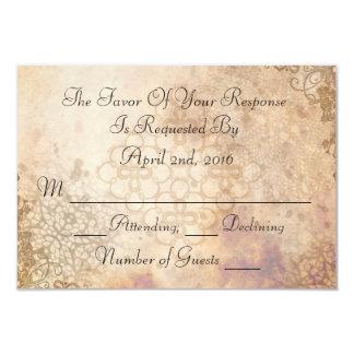 De vintage kaart van het Huwelijk RSVP van het 8,9x12,7 Uitnodiging Kaart