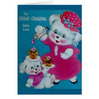 De vintage Kaart van het Moederdag voor Groot -