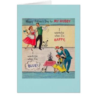 De vintage Kaart van het Vaderdag aan Manlief
