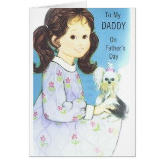 De vintage Kaart van het Vaderdag aan Papa