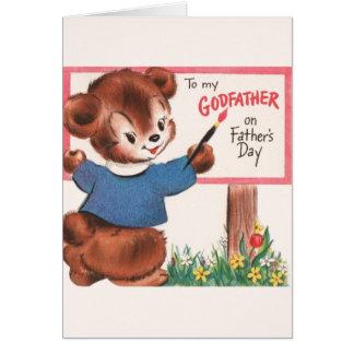 De vintage Kaart van het Vaderdag van de Peetvader