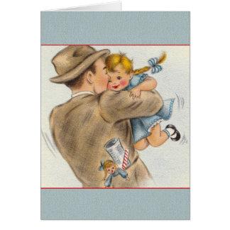 De vintage Kaart van het Vaderdag van het Meisje