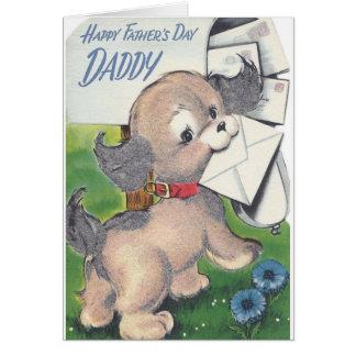 De vintage Kaart van het Vaderdag voor Papa