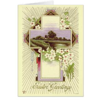 De vintage Kaart van Pasen