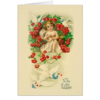 De vintage Kaart van Valentijn van de Cupido