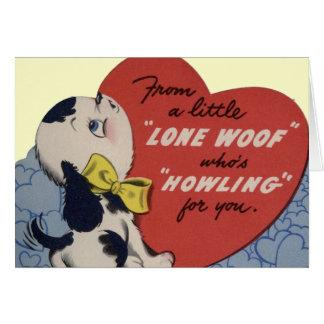 De vintage Kaart van Valentijn van het Puppy