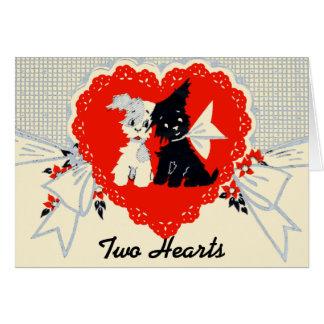 De vintage Kaart van Valentijn van het Puppy!