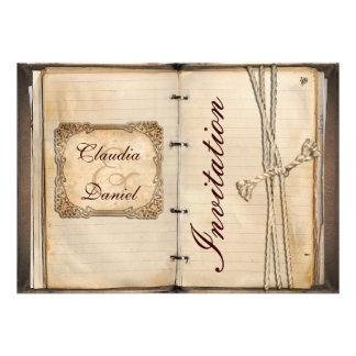 De vintage kaarten van de huwelijksUitnodiging