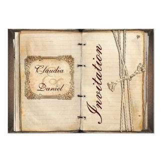 De vintage kaarten van de huwelijksUitnodiging 12,7x17,8 Uitnodiging Kaart