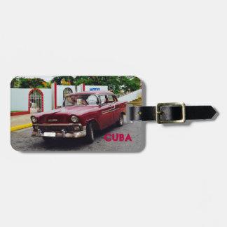 De Vintage Kastanjebruine Auto van Cuba Kofferlabel