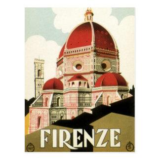 De vintage Kathedraal van Florence Italië van de Briefkaart