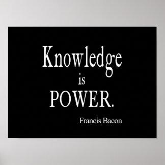 De vintage Kennis van Francis Bacon is het Citaat Poster
