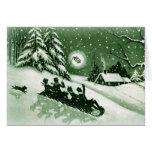 De Vintage Kerstkaart van de pret Kaart