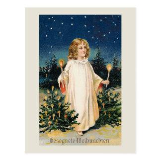 """De Vintage Kerstkaart van """"Gesegnete Weihnachten"""" Briefkaart"""