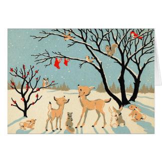 De vintage Kerstkaart van het Sprookjesland van de Briefkaarten 0